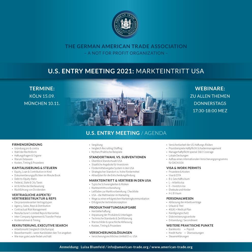 GATA Agenda U.S Entry